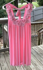 Double Zero Pink Sleeveless Tunic Dress Stretchy Sparkle, Floral Accents Small