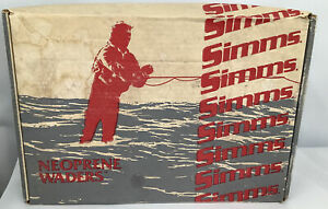Vintage SIMMS Neoprene Stockingfoot Chest Waders Size XS Brown Fishing USA