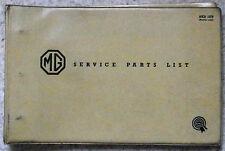 MG MIDGET Car Illustrated Service Parts List Catalogue Dec 1962 #AKD1879 2nd ED