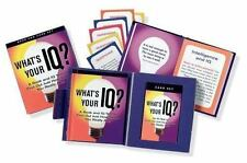 IQ TEST, WHAT'S YOUR IQ? PAPERBACK BOOK & TEST CARD SET LIKE NEW
