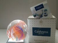Caithness Stars And Stripes Paperweight With Box, Signed, Numbered, Tag