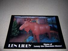 LIFE-SIZE CHOCOLATE MOOSE at LEN LIBBY CANDY SHOP SCARBOROUGH MAINE POSTCARD