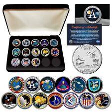 APOLLO SPACE MISSIONS Florida Quarters 13-Coin Complete Set NASA PROGRAM w/ BOX