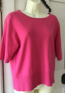 Pure Collection sz 16 pure cashmere jumper pink