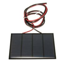1.5W 12V Mini Solar Panel Small Cell Module Charger With 1M Wire Q6J3