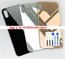 For iPhone X XS XS MAX  Battery Glass Cover Housing Back Door Replacement + Logo