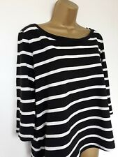 LADIES COS BLACK & WHITE STRIPED TOP SZ M IN VGC! COTTON