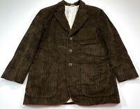 Iceberg M Pluto Lining Brown Corduroy Vintage Jacket Blazer Coat Medium