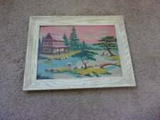 Paint By Number Oriental Scene Framed