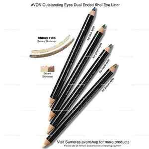 Avon Kohl Eye Liner Dual Ended ~ Brown Shimmer ~ 2 Eyeliners in 1 New  &Free P&P