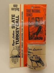 Vintage Penn's Woods Roger Latham Compact Slate Turkey Call - New in Package