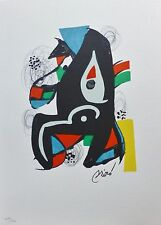 "Joan Miro ""La Melodie Acide"" VI  signed Hand numbered LITHOGRAPH 1980"