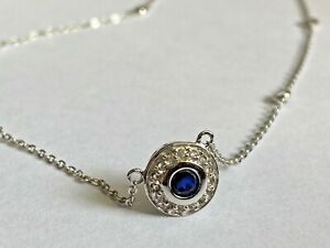 Lovely sapphire necklace in 925 sterling silver