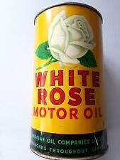 Vintage oil can WHITE ROSE ONE IMPERIAL QUART 🔥🔥