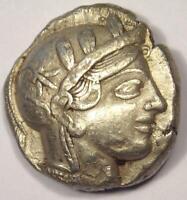 Athens Greece Athena Owl Tetradrachm Coin (454-404 BC) - XF with Test Mark