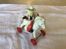 Vintage Christmas/Valentine Rosbro Hard Plastic Horse and Cowboy Candy Container