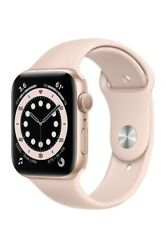 Apple Watch Series 6 44mm Gold Aluminum Case with Pink Sand Sport Band M00E3LL/A