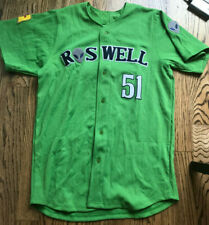 2019 Roswell Invaders Lime Game Jersey Jersey #51 Size S