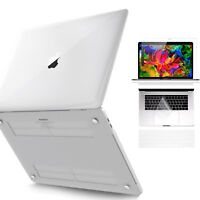 Shockproof Crystal Clear Case +Keyboard Cover for Macbook Pro 13 15 2018/2017/16