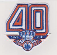 Edmonton Oilers 40th Anniversary Jersey patch Rare