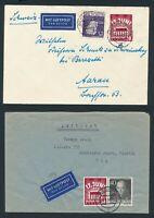 BERLIN 1953, Mi. 111 Brief, zwei portorichtige Auslands-Flugbriefe!! Mi. 148,--!