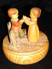 "Thoren's Swiss Movement Vintage  Boy/Girl/Fence Music Box ""Lara's Theme"" Mint"