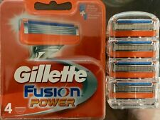 Gillette Fusion Power Razor Blades New Single 4 pack Made In Germany