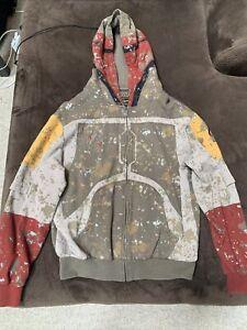 Star Wars Edition Boba Fett Zip Up Hoodie Mens Lg Marc Ecko Cut & Sew