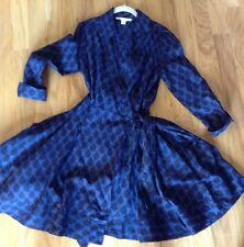 DVF DIANE VON FURSTENBERG cotton size 12 wrap dress beautiful!