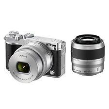 Nikon 1 J5 Digital Camera 10-30/30-110mm Double Zoom Kit -Silver- Japan new .