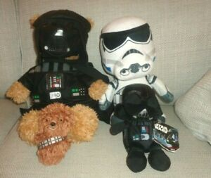 Build A Bear in Star Wars Darth Vader outfit, Stormtrooper & Chewie plush