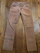 True Religion Ricky Straight Leg Orange Brown Wash Jeans Men's 29 x 32.5