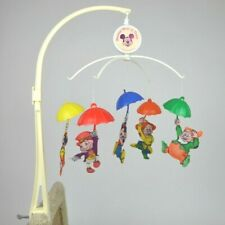 Disney Dolly Toy's Vintage 1962 Musical Baby Crib Mobile Mickey Pinnochio Dopey