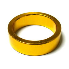 """MR CONTROL Alloy 3mm Thick Headset Spacer 10mm, 1-1/8"""", 9g, Gold, L45"""