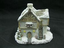 A Dickens Christmas Black Swan Pub 1990 Rsvp Vintage Miniature Cottage