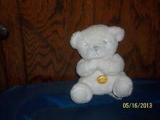 Russ Berrie White Prayer Teddy Bear Plush Now I Lay Me Down To Sleep