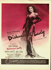 1947 Vintage movie ad for Dishonored Lady/ Hedy Lamarr (051515)