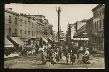 Beds LUTON George St Tram Cars RP PPC