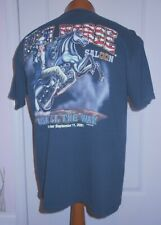 World Famous Iron Horse Saloon USA  All The Way 9-11 Black Tee Shirt SIZE L