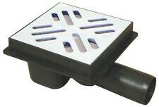 Duschrinne Bodenablauf Duschablauf mit Siphon DN50 Bad Badablauf 151x151 Weiß