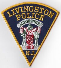 Livingston Police Patch New Jersey NJ NEW !!!