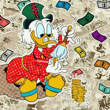 Alec Monopoly Print on Canvas Graffiti art Scrooge Mcduck Money Clean 28x28""
