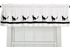 Javanese Cat Window Valance Curtain . Choice of Colors*
