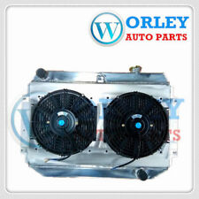 3 Core Alloy Radiator Holden Torana HQ HJ HX HZ HK Chevy V8+Alloy Shroud+Fan MT