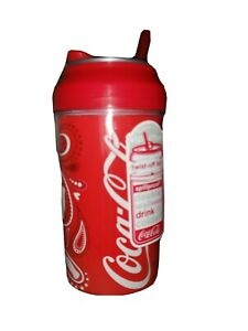 Coca Cola double wall drink cooler, spill proof twist off lid