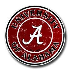 "UNIVERSITY OF ALABAMA 12"" ROUND METAL SIGN CRIMSON TIDE BAMA ROLL TIDE MAN CAVE"