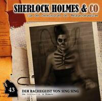 SHERLOCK HOLMES & CO - DER RACHEGEIST VON SING SING-FOLGE 43   CD NEU