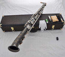 Professional Straight Eb Alto Saxophone Saxello Curved Bell Sax With hard Case