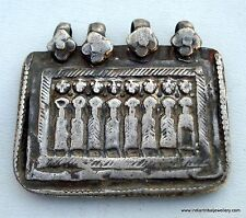 ANCIENT TRIBAL OLD SILVER AMULET PENDANT SEVAN SISTER