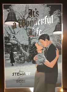 """""""IT'S A WONDERFUL LIFE"""" DURIEUX LIMITED EDITION (FOIL) SCREEN PRINT! $300!!"""